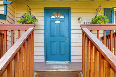 Increasing your curb appeal: What's behind the teal door?