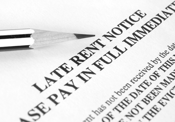 What can landlords do about late rent payments?