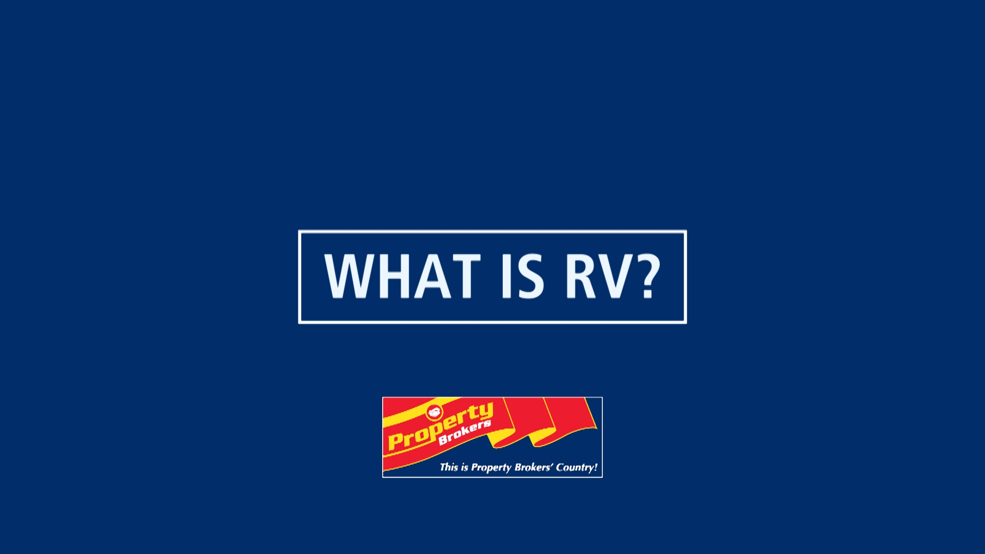 Rateable Value (RV) – What is it and should it be usedas a price indicator?